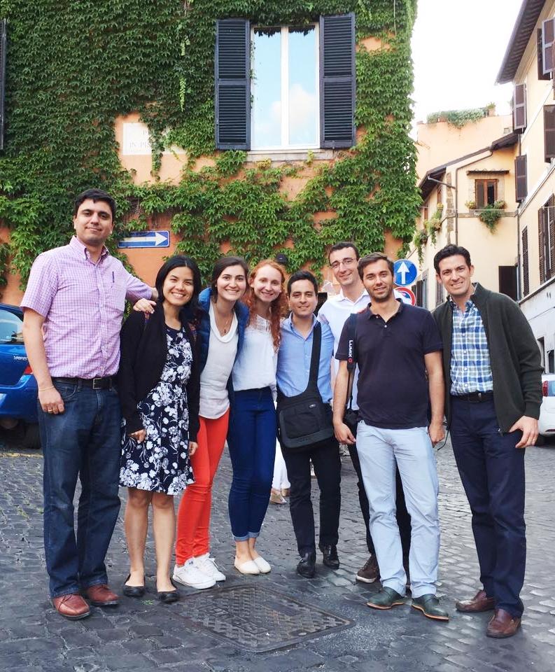 2016-06-05, Raphael Grötsch und Gruppe in Rom
